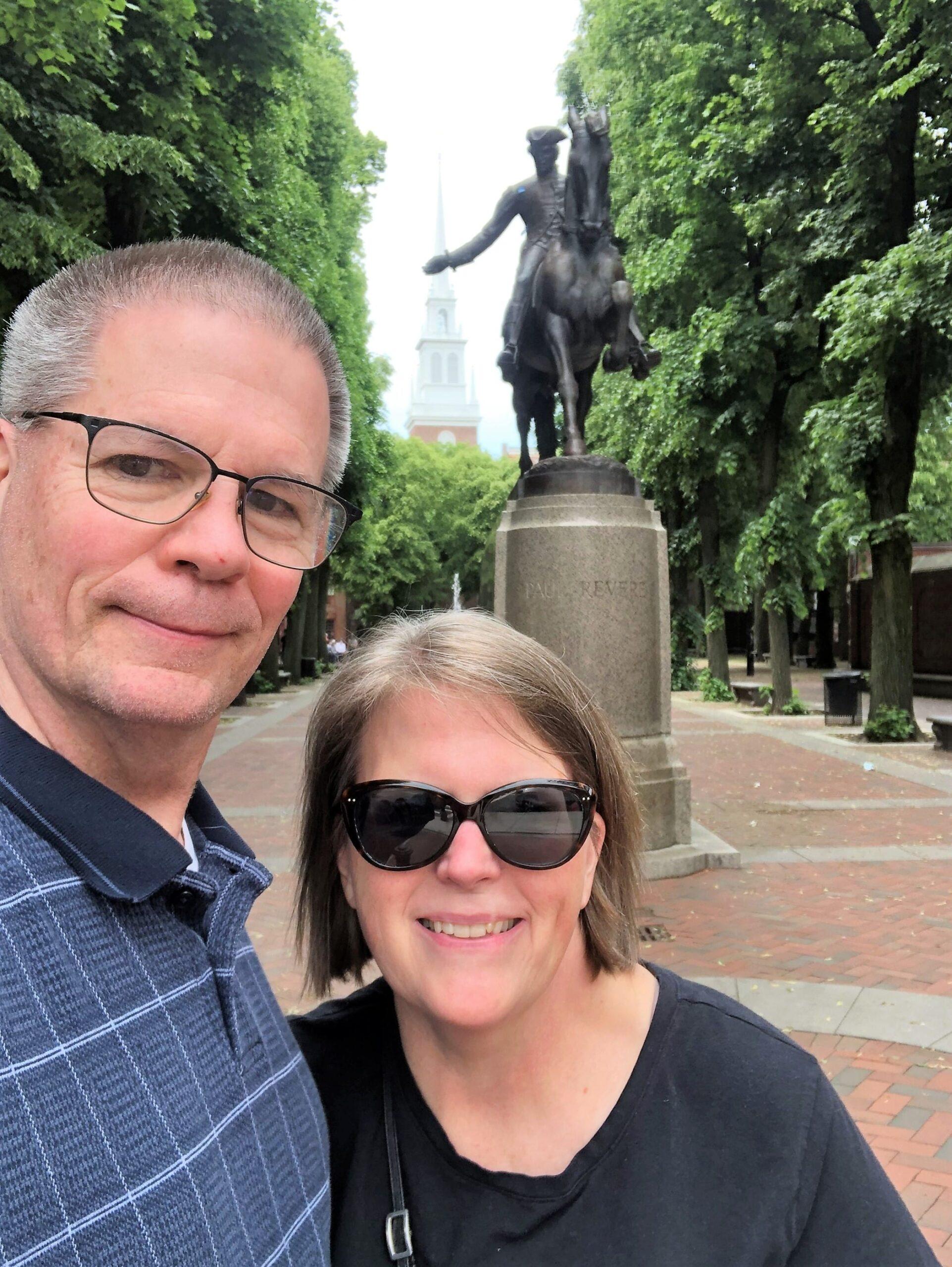 Mark Rauterkus and Catherine Palmer in Boston